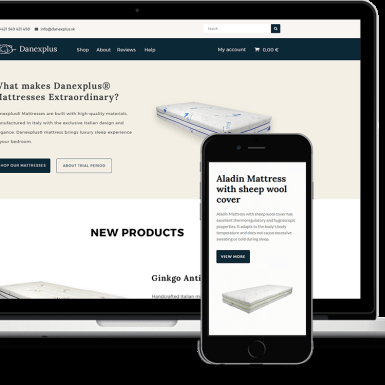 Web design - website for an online store