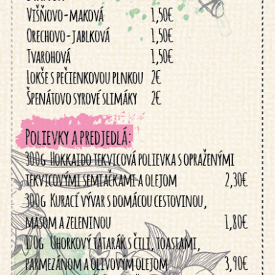 Menu - Dobry trh 2015, Restauracia Downtown Backpa