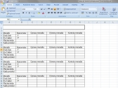 Excel tabulky